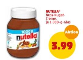 Penny: Kiloglas Nutella mit Extra-Punkten für 3,99 Euro