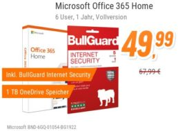 NBB: Office 365 mit Bullguard Internet Security für 49,99 Euro