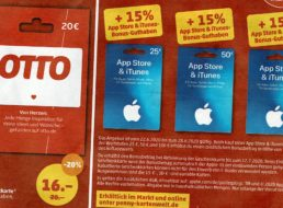 Penny: Guthabenkarten für Otto mit 20 Prozent Rabatt