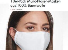 Seidensticker: Zehnerpack Mund-Nasen-Masken für 19,90 Euro frei Haus