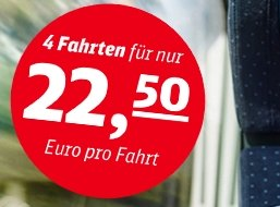 Deutsche Bahn: Sommer-Ticket für 4 Fahrten zum Preis von 70-90 Euro