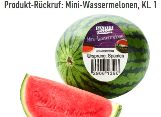 Oxamyl-Alarm: Aldi ruft Mini-Wassermelonen zurück