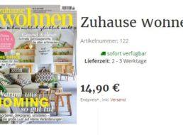 """""""Zuhause Wohnen"""": Jahresabo zum Direktpreis von 14,90 Euro"""