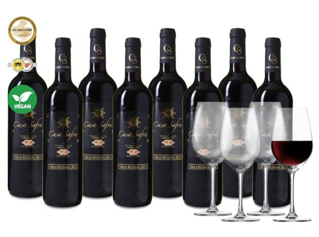 """Weinvorteil: """"Casa Safra""""-Probierpaket mit vier Gläsern für 44,99 Euro"""