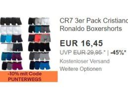 """CR7: Boxershorts """"Christiano Ronaldo"""" im Dreierpack für 14,80 Euro"""