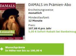 Damals: Jahresabo für 102,66 Euro mit Gutschein über 100 Euro