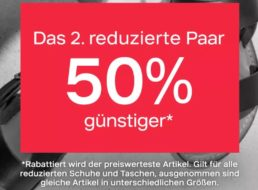 Deichmann: Zweites Paar reduzierte Schuhe zum halben Preis