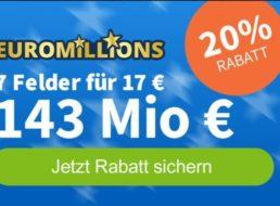 Euromillions: Gratis-Los zum 143-Millionen-Jackpot