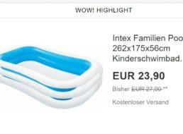 Ebay: Familienpool für 22,49 Euro, Lüfter für 46,80 Euro