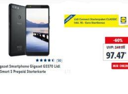 Lidl: Smartphone Gigaset GS370 mit 10 Euro Guthaben für 97,47 Euro