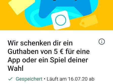 Google Play: 5 Euro geschenkt zum App-Kauf ab 25 Euro
