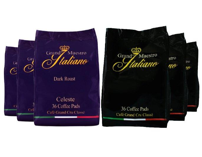 Kaffeevorteil: Probierpaket Grand Maestro mit 216 Pads für 19,99 Euro