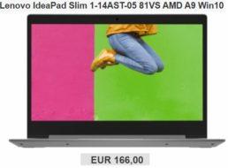 Ebay: Lenovo Ideapad mit 128 GByte SSD als B-Ware für 166 Euro