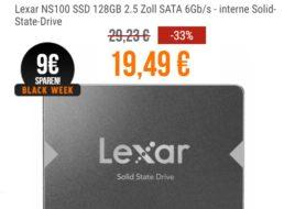 NBB: SSD von Lexar mit 128 GByte für 19,49 Euro