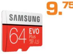Saturn: Samsung Evo Micro-SDXC mit 64 GByte für 9,75 Euro