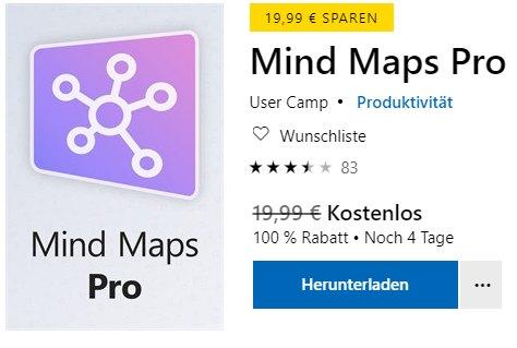 Gratis: Mindmaps Pro für 0 statt 19,99 Euro
