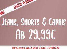 Mustang: Jeans für 29,99 Euro frei Haus, 10 Prozent Rabatt ab zwei Stück