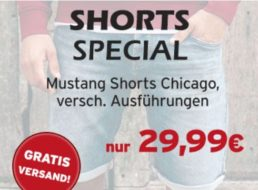 Mustang: Shorts bei Jeans-Direct für 29,99 Euro frei Haus