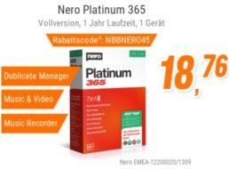 NBB: Nero Platinum 365 für 22,65 Euro mit Versand