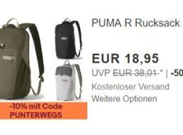 Puma: Rucksack mit zehn Prozent Rabatt für 17,05 Euro frei Haus