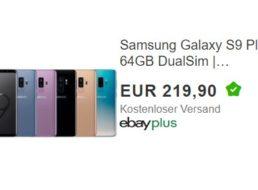 Ebay: Samsung Galaxy S9 Dualsim als B-Ware für 219,90 Euro