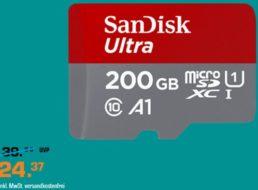 Saturn: Speicherwoche mit 200-GByte-MicroSDXC für 24,37 Euro