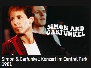 """Gratis: """"Konzert im Central Park"""" von Simon and Garfunkel im Stream"""