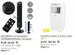 Ebay: Klimagerät mit Entfeucherfunktion für 189,90 Euro frei Haus