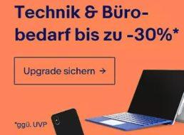 Ebay: Büro- und Technik-Sale mit bis 30 Prozent Rabatt