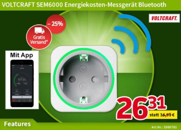 Völkner: Energiekosten-Messgerät mit Bluetooth für 26,31 Euro frei Haus