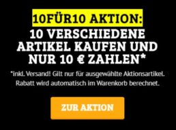 Knaller: 10 verschiedene Artikel nach Wahl für zusammen 10 Euro frei Haus