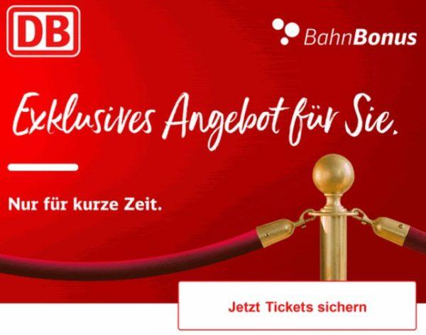 Bahn Bonus: Super-Sparpreis-Tickets ab 17,50 Euro bis Sonntag