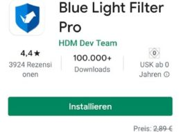 "Gratis: ""Blue Light Filter Pro"" für 0 statt 2,89 Euro"