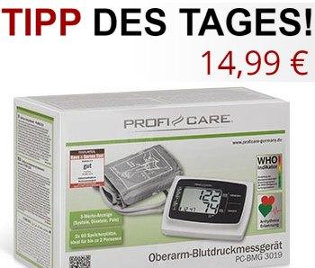 """Druckerzubehoer: Blutdruckmessgerät """"ProfiCare PC-BMG 3019"""" für 14,99 Euro"""