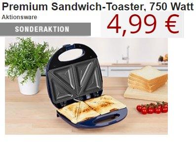 Druckerzubehoer.de: Sandwichtoaster von Clatronic für 4,99 Euro