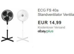 Ebay: Standventilator mit guten Bewertungen für 14,99 Euro frei Haus