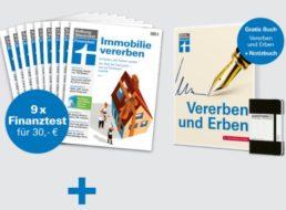 Finanztest: Neun Ausgaben plus Erben-Buch für 30 Euro frei Haus