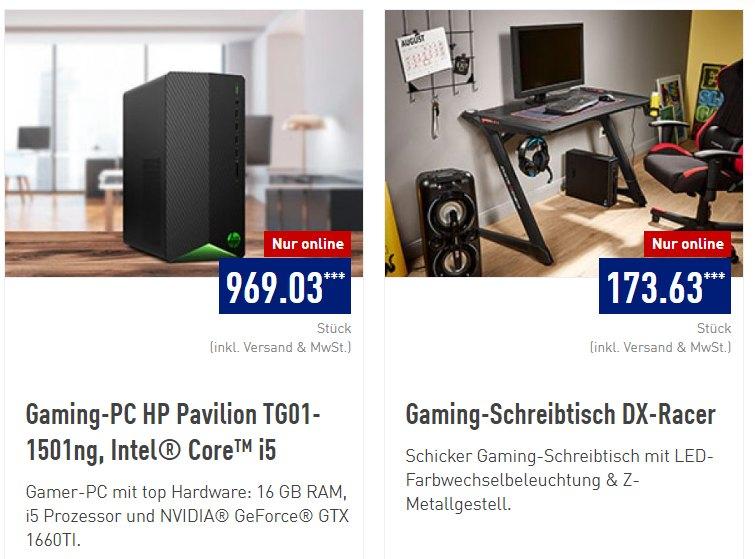 "Aldi: Gaming-PC ""HP Pavilion TG01-1501ng"" für 969,03 Euro"