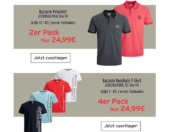 Jack & Jones: Multipacks T-Shirts und Polos mit Rabatt