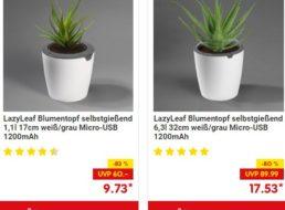"""Netto: Smarter Blumentopf """"Lazy Leaf"""" zum Bestpreis von 14,55 Euro"""