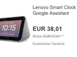 Ebay: Lenovo Smart Clock für 38,01 Euro frei Haus