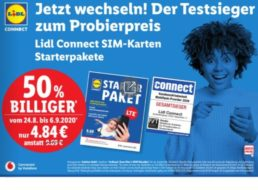 Lidl: SIM-Karte mit 10 Euro Guthaben für 4,84 Euro frei Haus