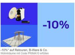 Ebay: B-Ware-Möbel mit zehn Prozent Extra-Rabatt
