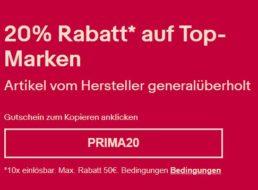 Ebay: Marken-B-Ware mit 20 Prozent Extra-Rabatt