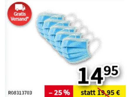 Völkner: 50er-Pack Masken für 14,95 Euro frei Haus