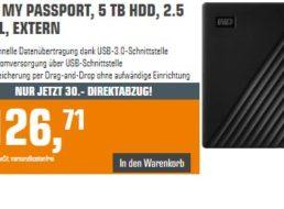 Saturn: WD My Passport mit 5 TByte für 96,71 Euro frei Haus
