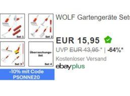 Wolf: Gartengeräte-Sets für 14,36 Euro frei Haus bei Ebay