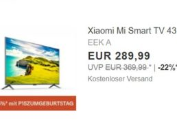 Ebay: UHD-TV von Xiaomi mit Sprachsteuerung für 246,49 Euro frei Haus