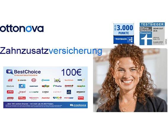 Knaller: Zahnzusatzversicherung von Ottonova mit Bonus von 100 Euro