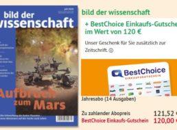 """""""Bild der Wissenschaft"""": 14 Ausgaben für 121,52 Euro mit Gutschein über 120 Euro"""